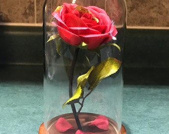 Engraved Beauty and the Beast Rose (medium)