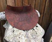"""Vintage 1970's Olympia Beer """"its the water"""" leather visor!"""
