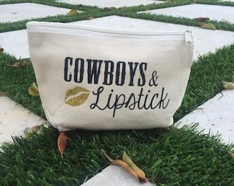 Cowboys & Lipstick Make up Bag