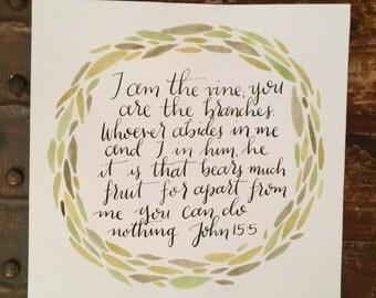 John 15:5 8x8 Print