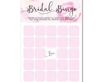 INSTANT DOWNLOAD - Printable Bridal Shower Bridal Bingo Game - 5x7 - Blushing Blooms