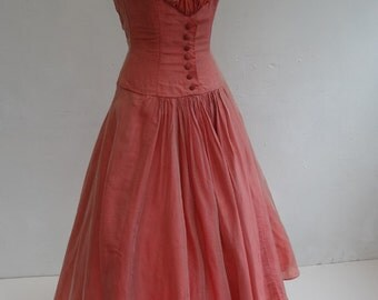 50's Dress . Coral Reef.