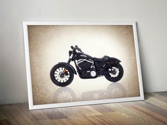 Harley Davidson Sportster Iron 883 Photo Printboys By