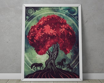 "Abstract Modern Art Print - ""Ancient Tree"""
