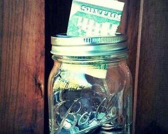 Ball Mason Jar Bank/Change Jar