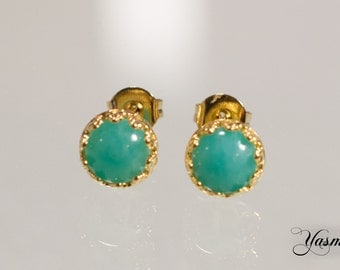 Maharani with Amazonite gold plated