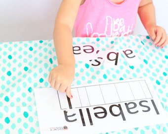 Custom Name Puzzle, Personalized Name Plaque, Name Recognition Activity