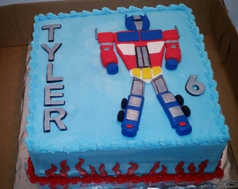 Edible cake topper transformer Etsy
