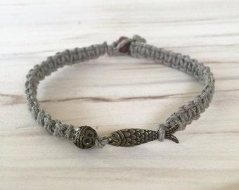 Macrame Hemp Cord Woven Bracelet