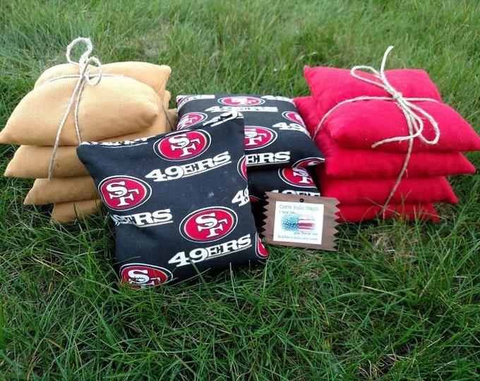 Corn Hole Bags,NFL Foot Ball Corn Hole Bags,49ers Corn Hole Bags,UVA Corn Hole Bags,Custom Corn Hole Bags,WVU Corn Hole Bags