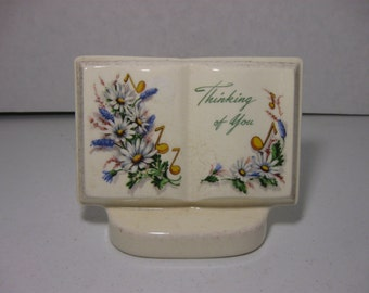 Vintage Royal Windsor Vase 'Thinking of You' Open Book Vase Flowers