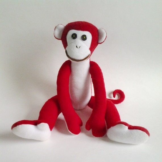 red monkey fire monkey plush toy monkey simbol 2016 year. Black Bedroom Furniture Sets. Home Design Ideas