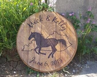 Running Horse with Kentucky Barrel Head