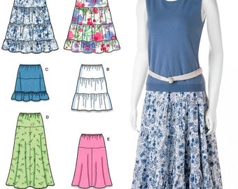 Simplicity Pattern 2609 Misses Skirts
