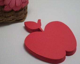Die Cut Apples - 30 Apples per set - Bulletin Boards - Tags - Note Cards -   Item No: VTC-0104