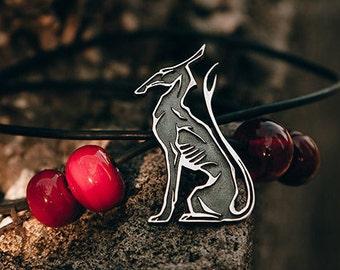 "Silver handmade pendant ""Seth. God of Chaos"""