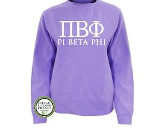 Pi Beta Phi Comfort Colors Sweatshirt, Greek pullover, Greek gift, Sorority gift, Big and Little, Pi Beta Phi, Pi Phi