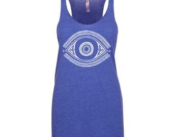 Yoga Shirt - Yoga Tank Top - Yoga Apparel - Evil eye