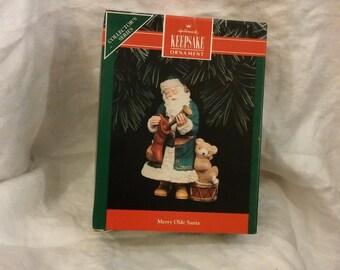 Merry Olde Santa 1992 Hallmark Keepsake Ornament  #3 in Series.