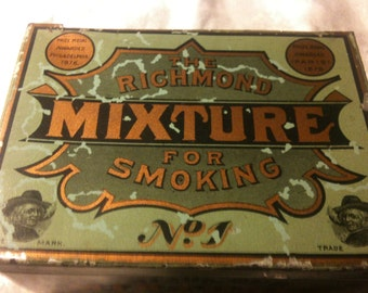 The Richmond Mixture For Smoking No.1 in green tin box