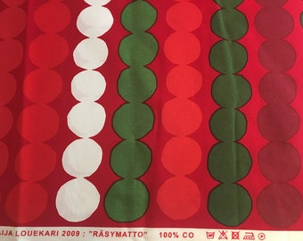 "Marimekko ""Rasymatto"" 100% cotton fabric, by the half-yard"