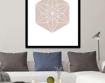 Geometric Print, Light Brown Wall Art, Neutral Printable Geometric Wall Art, Downloadable Geometric Wall Art, Geometric Wall Prints