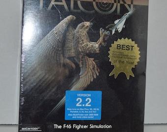 Falcon 2.2 flight simulator 1988 Spectrum Holobyte vintage MAC PC game sealed