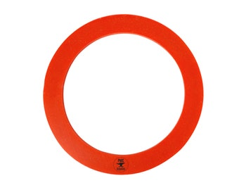 "4"" Diameter Red Silicone Rubber Casting Gasket - CAST-0082"