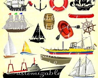 Boat Clipart Sailboat Clipart Sail Boat Ship Clipart Sail Boat Sailing Ship Canoe Yacht Barrel Ship Boat Clipart Digital Images Graphics