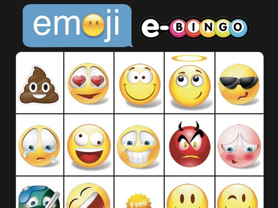 Emoji Bingo Game Birthday Party