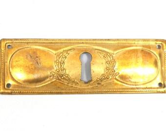 1 (ONE) Escutcheon keyhole, keyhole plate, antique furniture escutcheon, antique hardware,keyhole plate. #643G77KD