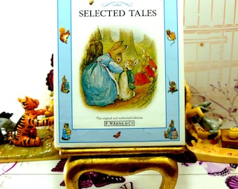 Beatrix Potter Selected Tales Peter Rabbit, Timmy Tiptoes Johnny Town Mouse and more Vintage Childrens Book