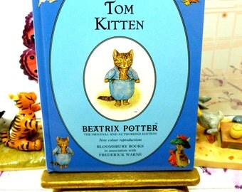 The Tale of Tom Kitten First Edition Blue Bloomsbury Book 1993 Beatrix Potter Childrens Story Ladybird Size