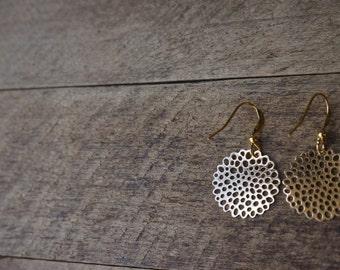 Golden sunny earrings