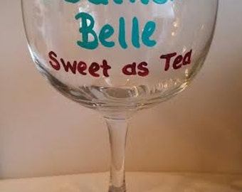 Southern Belle Wine Glass