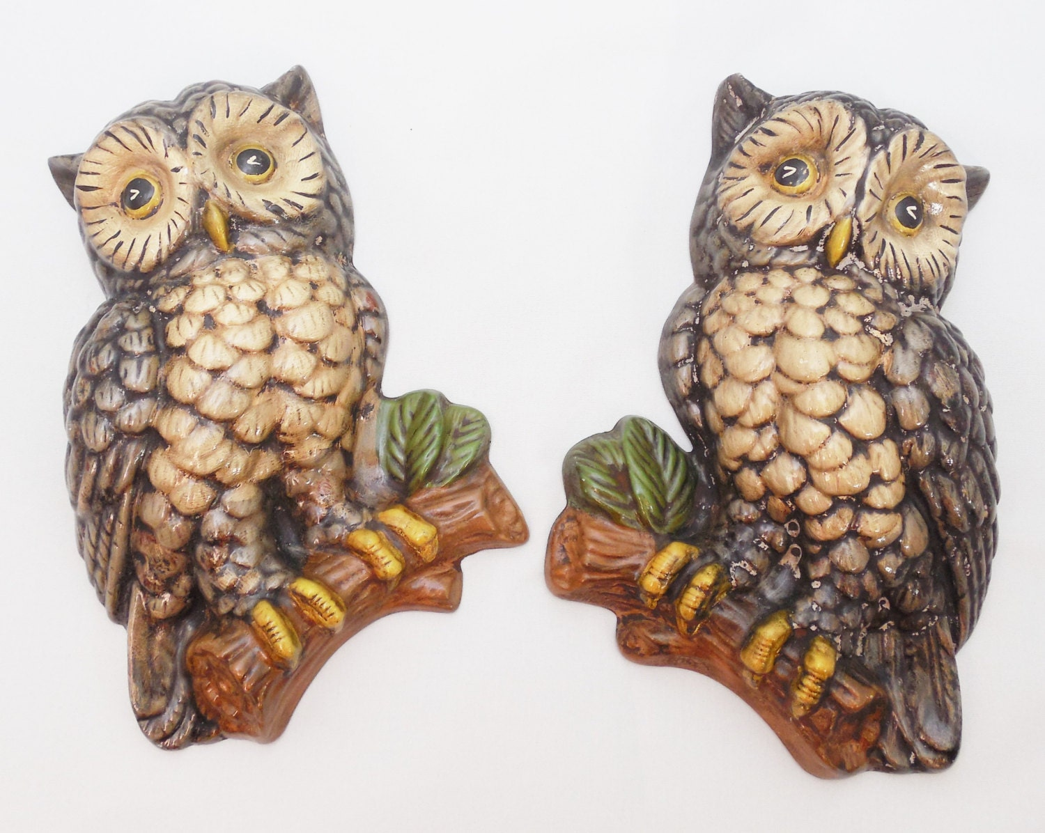 Ceramic Owl Wall Hangings 7 1 4 Vintage Owl Decor Owl
