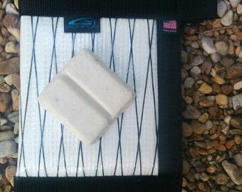 G CHAVA white and black Sailcloth Surf Wax Bag