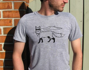Superhero, Fox Shirt, Mens shirt, Mens t-shirts, Mens tees, Animal Shirt, Funny shirt, Foxy, Fox Mask, Animal Print, Red fox