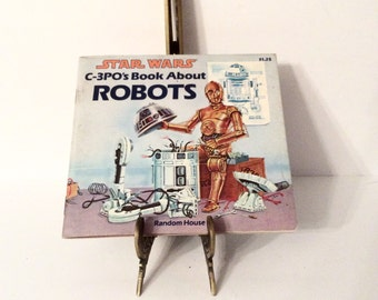Vintage Star Wars C-3PO's Book About Robots, 1980's Star Wars Books, Star Wars Collectible, R2D2 Robot, Star Wars Robots, Collectible Books