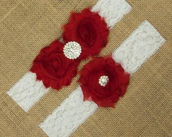 Red Wedding Garter, Red Garter Belt, Red Bridal Garter, Garter Belt, Lace Wedding Garter, Toss Garter, Keepsake Garter, Red Garter, SCWS-R04