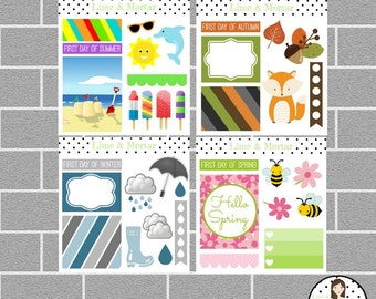 Four Seasons Planner Stickers