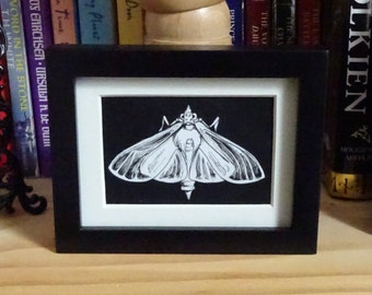 "Mini Original Drawing ""Satin Moth"""