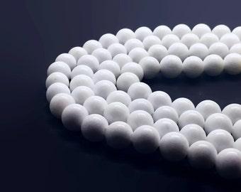 8mm Mashan Jade Beads White Round 8mm Mashan Jade 8mm White Jade 8mm Jade White Beads 8mm Candy Jade 8mm White Beads 8mm Mountain Jade