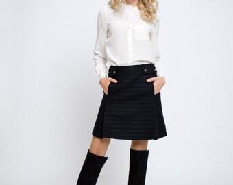 HEIDI Wool and Cashmere mini skirt