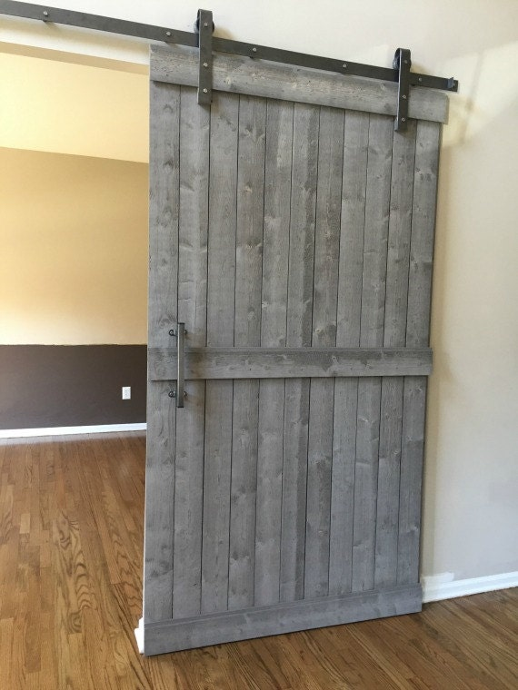 Sliding barn door hardware kit with track raw steel only for Cheap barn kits