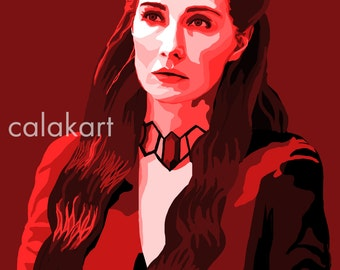 GAME OF THRONES Melisandre - Digital Drawing - 11x14 Print