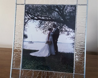 Custom stained glass picture frame - with bevels