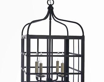 Wrought Iron Grid Style Lantern