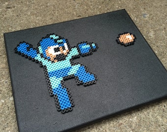 "Mega Man on 8x10"" Canvas Wall Art"