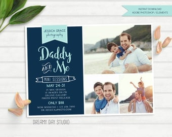 daddy and me mini, father's day mini session, photography mini session, mini session template, father and me mini, father's day template
